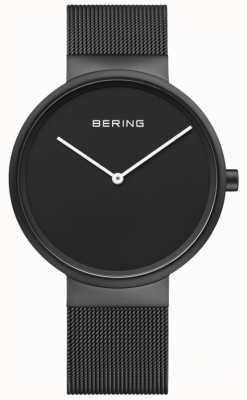 Bering Мужской классический черный циферблат с черным ip покрытием браслет 14539-122