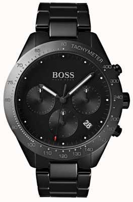 Hugo Boss Мужской талант черный набор даты дисплей черный ip покрытием браслет 1513581