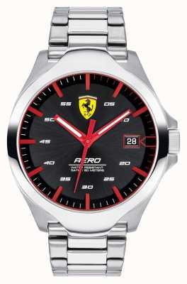 Scuderia Ferrari Мужская диафрагма с черным циферблатом из нержавеющей стали 0830507