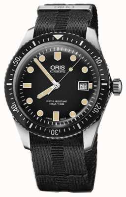 Oris Divers шестьдесят пять автоматических черных циферблатов черного nato-ремешка 01 733 7720 4054-07 5 21 26FC