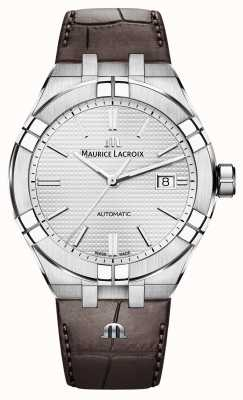Maurice Lacroix Автоматические коричневые кожаные часы Aikon AI6008-SS001-130-1