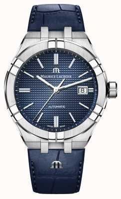 Maurice Lacroix Aikon автоматический синий циферблат синие кожаные часы AI6008-SS001-430-1