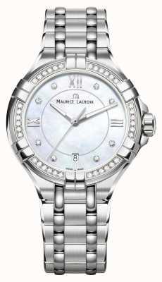 Maurice Lacroix Eliros дамы moonphase мать из жемчужной нержавеющей стали EL1096-SD502-107-1