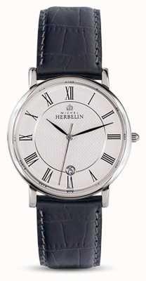 Michel Herbelin Мужская классическая черная кожаный ремешок белого набора 12248/08