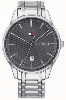 Tommy Hilfiger Мужские часы с черным циферблатом из нержавеющей стали 1791490