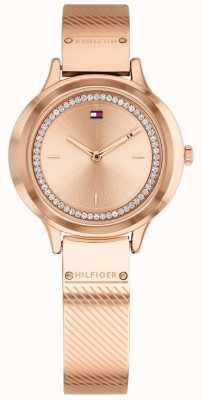 Tommy Hilfiger Женские оливковые розовые позолоченные часы 1781911