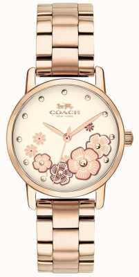 Coach Женские грандиозные розовые золотые часы 14503057