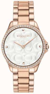 Coach Женские современные спортивные часы с покрытием из розового золота 14503072