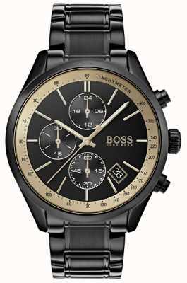 Boss Мужские Гран-при с черным IP / золотым акцентом 1513578