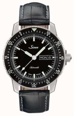 Sinn 104 st sa i классический пилот-аллигатор с тиснением 104.010-BL44201851001225401A