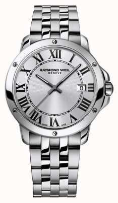 Raymond Weil Мужская танго из нержавеющей стали браслет серебристый циферблат 5591-ST-00659