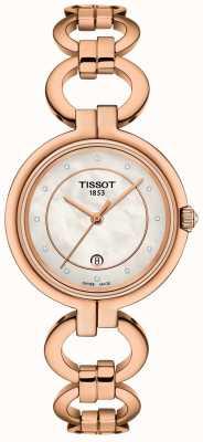 Tissot Женское фламинго розовое золото pvd покрыло T0942103311601