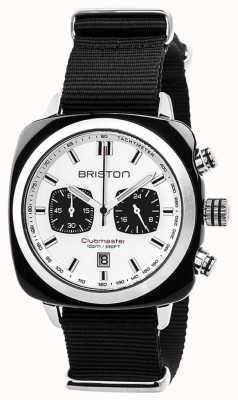 Briston Clubmaster спортивный вневременной черный ремешок белый циферблат 17142.SA.BS.2.NB