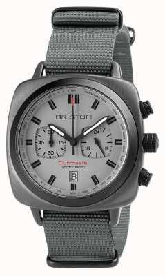 Briston Ремешок Clubmaster sport nato серый 18142.SPG.SP.12.NG