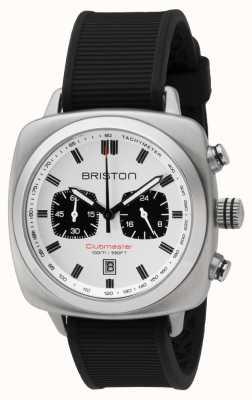 Briston Клубный спорт черный резиновый ремешок белый циферблат 16142.S.SP.2.RB