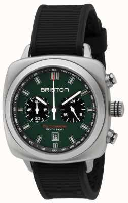 Briston Ремешок Clubmaster sport british green, матовый черный 16142.S.SP.16.RB
