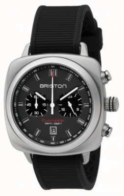 Briston Clubmaster спорт черный резиновый серый матовый циферблат 16142.S.SP.17.RB