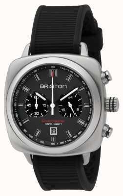 Briston Clubmaster sport черный каучуковый серый матовый циферблат 16142.S.SP.17.RB