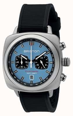Briston Clubmaster спорт черный резиновый светло-голубой матовый циферблат 16142.S.SP.18.RB
