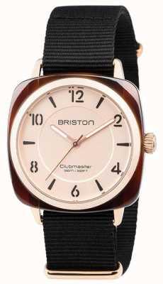 Briston Клубный колокольчик с черным ремешком 18536.PRA.T.6.NB