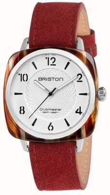 Briston Клубный шикарный красный ремешок белого набора 18536.SA.RE.2G.LNR