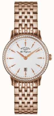 Rotary Женские часы с кристаллами из розового золота LB90054/06