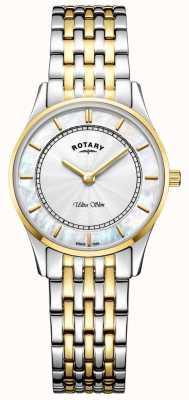 Rotary Женщины ультра тонкий двухцветный браслет мама звонка LB08301/41