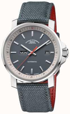 Muhle Glashutte Серые часы из нержавеющей стали с меткой 29er M1-25-34-NB