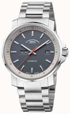 Muhle Glashutte Серый циферблат часов из нержавеющей стали 29er M1-25-34-MB