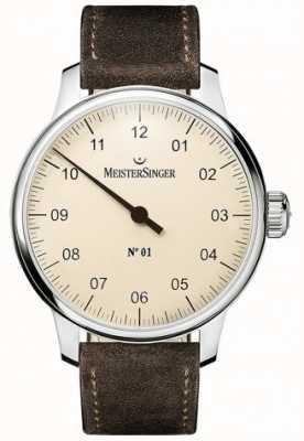 MeisterSinger № 1 40 мм и рана sellita замшевый коричневый ремешок DM303
