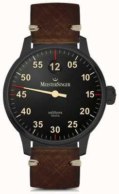 MeisterSinger Salthora meta автоматическая черная линия SAM902BL