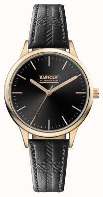 Barbour Мужская черная кожаный ремешок черного набора BB058RSBK