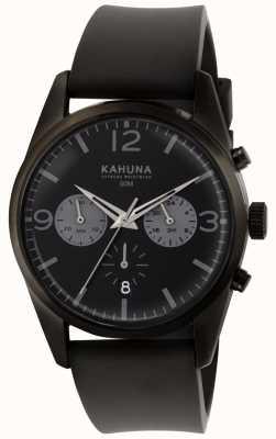 Kahuna Черный черный хронограф черный черный ремешок KCS-0010G