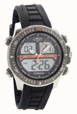 Limit Мужские черные резиновые ремешки цифровые / аналоговые часы 5694.71