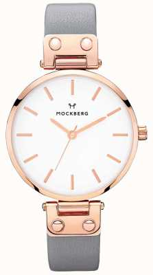Mockberg Женская алиция темно-серые кожаные часы MO118