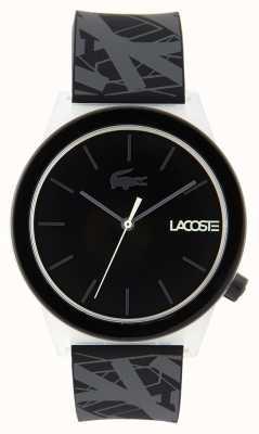 Lacoste Юниодное движение смотреть черный и серый резиновый ремешок 2010937