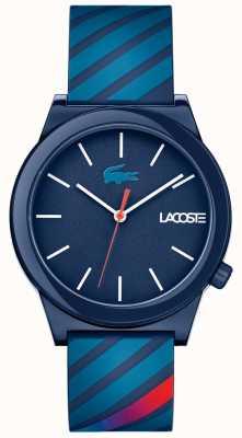 Lacoste Синий резиновый ремень для унисекса 2010934