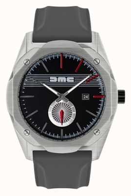 DeLorean Motor Company Watches Мечта вперед серый силиконовый ремешок черный циферблат DMC-5