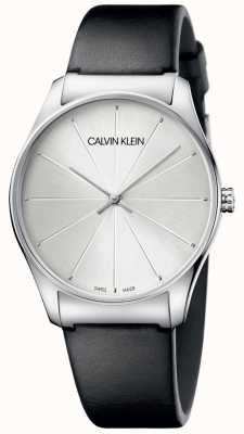 Calvin Klein Женские черные кожаные циферблатные часы K4D211C6
