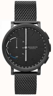 Skagen Hagen подключил смарт-часы черный сетчатый браслет черный циферблат SKT1109