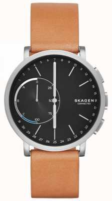 Skagen Хаген подключен смарт-часы коричневый кожаный ремешок черный циферблат SKT1104