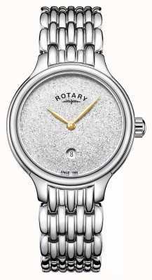 Rotary Женская блестящая циферблат из нержавеющей стали LB00405/33