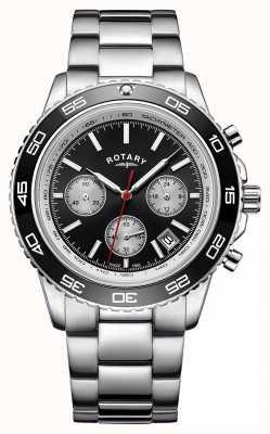 Rotary Часы с хронографом для мужчин с тахиметром из нержавеющей стали GB00410/04