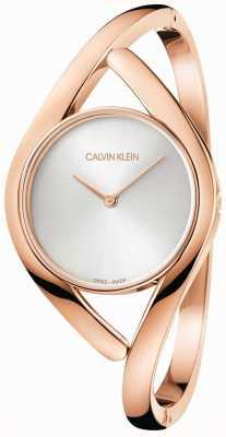 Calvin Klein Розовый и серебряный браслет из нержавеющей стали K8U2S616