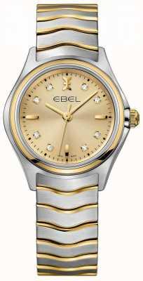 EBEL Женское алмазное шампанское набирает два тона желтого золота и серебра 1216317