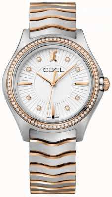 EBEL Женская бриллиантовая сетка с белым набором двухтонального браслета 1216319