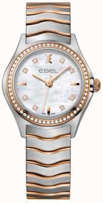 EBEL Женская алмазная волна, перламутровая набрать двухцветный браслет 1216325