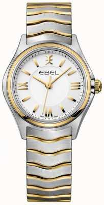 EBEL Женская волна белого набора двухцветного золотого и серебряного браслета 1216375