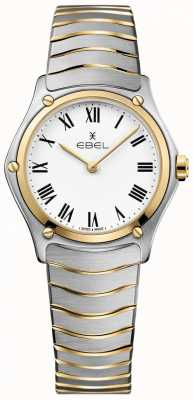 EBEL Женский спортивный классический белый набор двухцветный браслет из нержавеющей стали 1216387