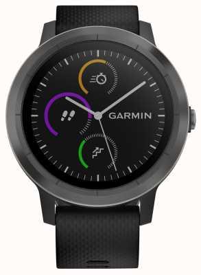 Garmin Vivoactive 3-часовой мультисервисный трекер черный резиновый черная рамка 010-01769-10